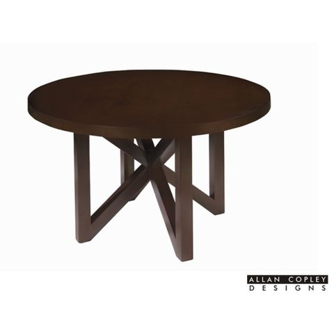 Snowmass Round 54 Inch Dining Table in Espresso Finish by Allan Copley Designs