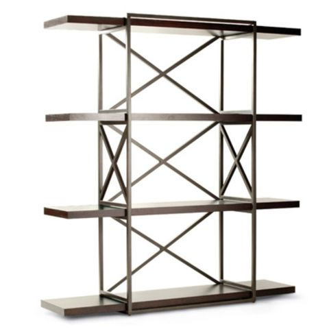 Snowmass 4-Shelf Bookcase in Espresso Finish with Metal Supports by Allan Copley Designs
