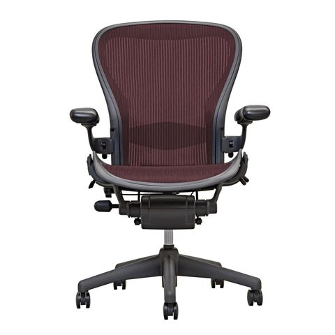 Aeron Chair - by Herman Miller - Garnet - Adjustable Lumbar