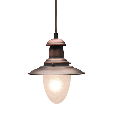 Railroad 1-Light Pendant In Antique Copper by Elk Lighting