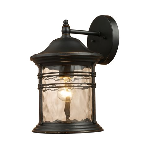 Madison 1-Light Outdoor Sconce In Matte Black by Elk Lighting