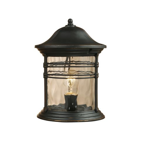 Madison 1-Light Outdoor Post Light In Matte Black by Elk Lighting