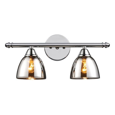 Reflections 2-Light Vanity In Polished Chrome by Elk Lighting