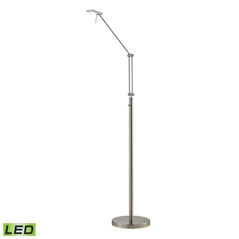 Reilly Collection 1 Light Floor Lamp In Brushed Nickel/Brushed Aluminum by Elk Lighting