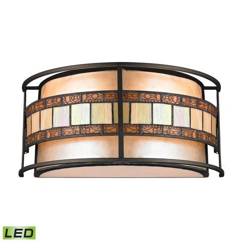 Annondale Collection 2 Light Sconce In Tiffany Bronze by Elk Lighting