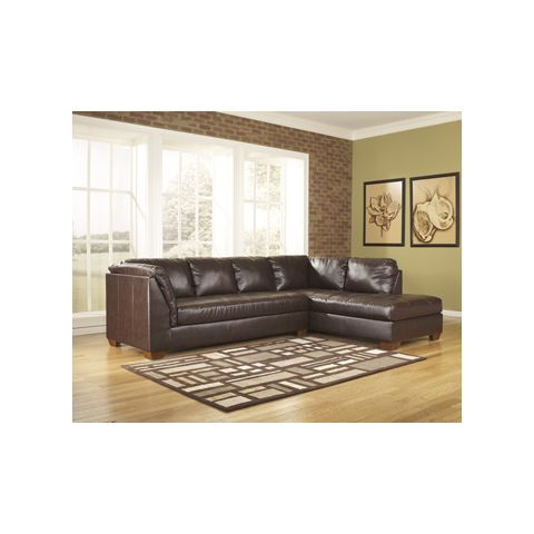 Signature Design By Ashley Durablend Mahogany RAF Chaise Sectional