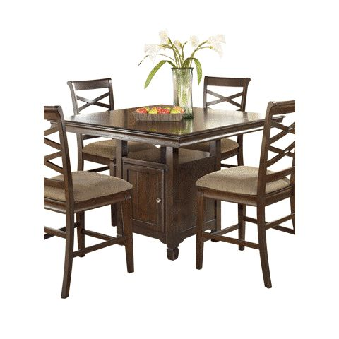 Hayley Square Counter Table by Ashley Furniture - D480-32