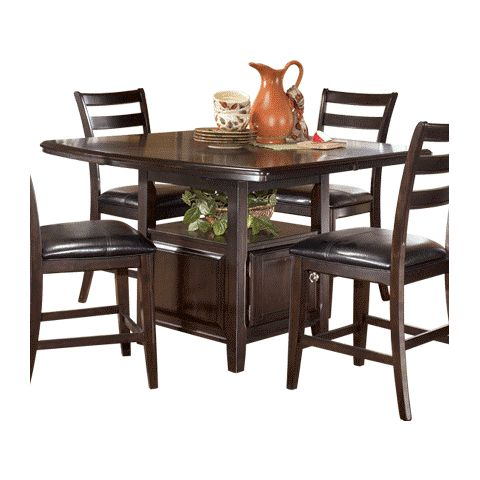 Signature design by ashley ridgley square counter height table d520 32 watchthetrailerfo
