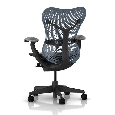 Mirra Chair Latitude Back in Blue Fog by Herman Miller - Back
