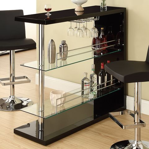 bar table with black finish by coaster fine furniture