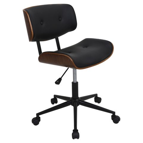 sc 1 st  Madison Seating & Lombardi Office Chair in Walnut - Black by LumiSource