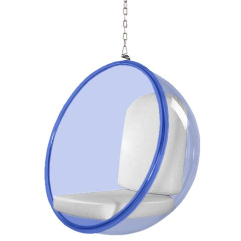 sc 1 st  Madison Seating & Bubble Hanging Chair Blue Acrylic in White by Mod Decor