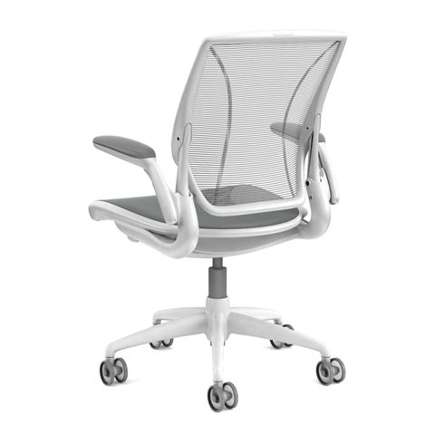 Diffrient World Office Chairs in White Side