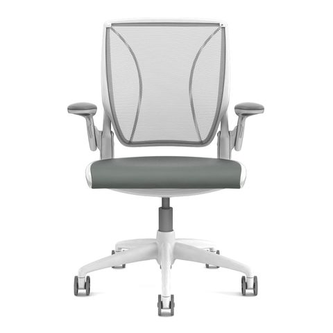 Diffrient World Office Chairs in White Back