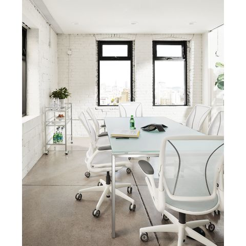 Diffrient World Office Chairs in White Room