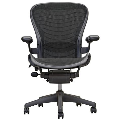 Aeron Chair by Herman Miller - Fully Loaded - Carbon Wave - Adjustable Lumbar