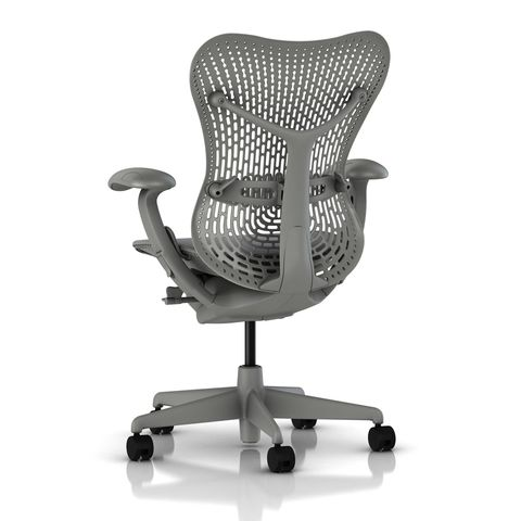 Mirra Chair Latitude Back in Shadow Grey by Herman Miller - Back